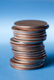 Stack of quarters Royalty Free Stock Image