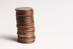 Stack of quarters Stock Photos