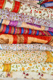 Stack of Quilts. Handloom quilts stack from an Indian Shop Stock Image