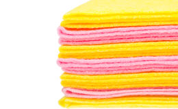 Stack of rags with blank place Royalty Free Stock Image