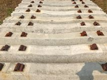 Stack of The Railway Sleepers Concrete. Outdoor stack of The Railway Sleepers Concrete Stock Image