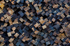 Stack of railway ties Stock Images