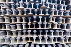 Stack of railway track Royalty Free Stock Photography