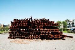 Stack of railway tracks Royalty Free Stock Photo