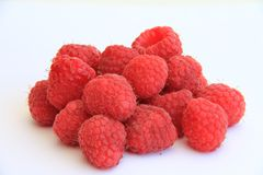 Stack of raspberries Royalty Free Stock Images
