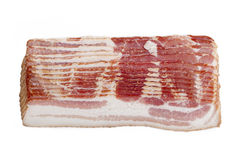 Stack of raw bacon Stock Photos