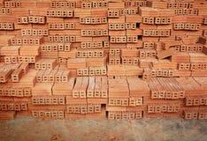 Stack of Raw Bricks Royalty Free Stock Image