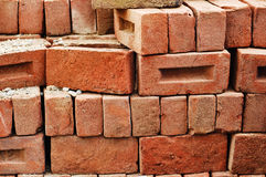 Stack of Raw Bricks Royalty Free Stock Photos