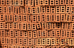 Stack of raw bricks texture Royalty Free Stock Image