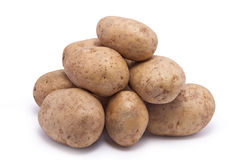 Stack of Raw Potatoes Stock Photo