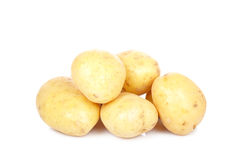 Stack of raw potatoes Royalty Free Stock Photography