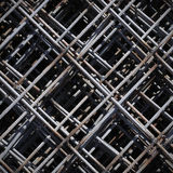 Stack of rebar grids at the construction site Stock Photography