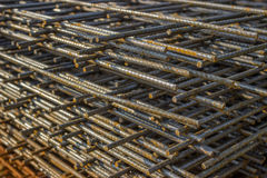 Stack of rebar grids 2 Stock Images