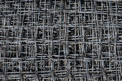 Stack of rebar grids Royalty Free Stock Photos