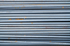Stack of rebars. Royalty Free Stock Photography