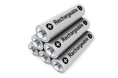 Stack of rechargeable batteries Royalty Free Stock Images