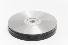Stack of Recordable Media. Cut out Stock Photo