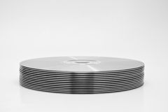 Stack of Recordable Media. Cut out Stock Image