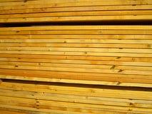 Stack rectangular wooden. Beam timber Royalty Free Stock Image