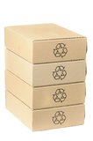 Stack of recyclable boxes Royalty Free Stock Photography