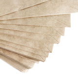 Stack Of Recycled Paper envelopes isolated on white background, Royalty Free Stock Images