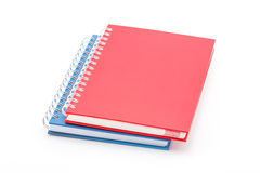 Stack of red and blue color notebooks. Stock Photography
