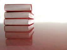 Stack of Red Books Royalty Free Stock Photo
