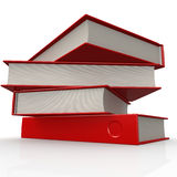 Stack of red books Stock Photography