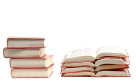 Stack of Red Books for Learning Stock Photos
