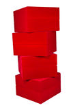Stack Of Red Box Royalty Free Stock Photos