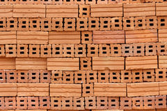 Stack of red brick Stock Photos