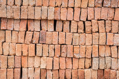 Stack of red brick Royalty Free Stock Photo