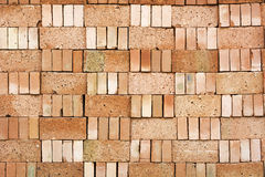 Stack of Red Brick Royalty Free Stock Image