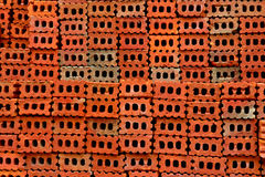 Stack of red brick Stock Image
