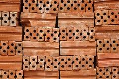 Stack of Red Bricks Stock Image