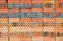 Stack of Red Bricks Stock Photography