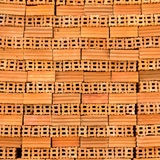 Stack red bricks. For construction Royalty Free Stock Photography