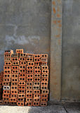 Stack of red bricks Stock Images