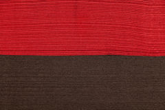 Stack of red and brown napkins Royalty Free Stock Images
