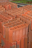 Stack of Red Clay Brick Stock Image