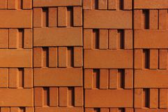Stack of red clay bricks Royalty Free Stock Images