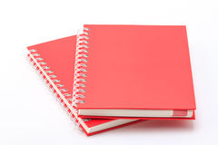 Stack of red color notebooks. Royalty Free Stock Photography