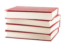 Stack of red cover books Royalty Free Stock Photography