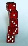 Stack of red dice Royalty Free Stock Photos