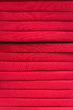 Stack of red fabric Stock Image