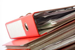 Stack red file Office folder Stock Photography