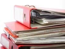 Stack red file Office folder Stock Image