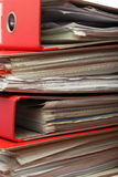 Stack red file Office folder Stock Image