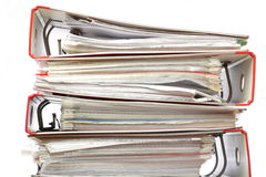 Stack red file Office folder Stock Photo