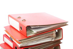 Stack red file Office folder Royalty Free Stock Image